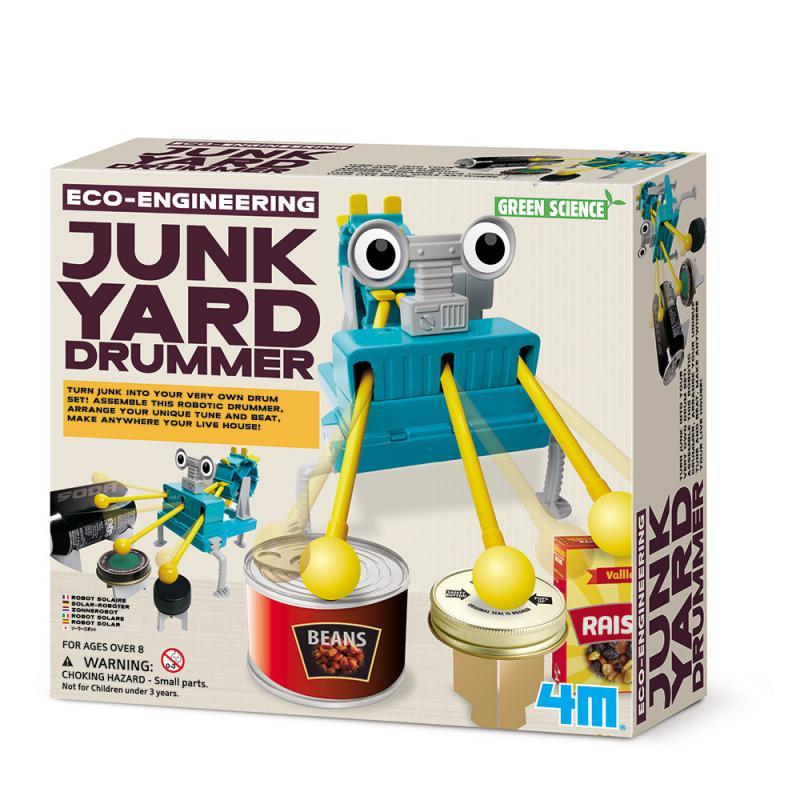 【4M 創意 DIY】00-03372 再生小鼓手 Junkyard Drummer