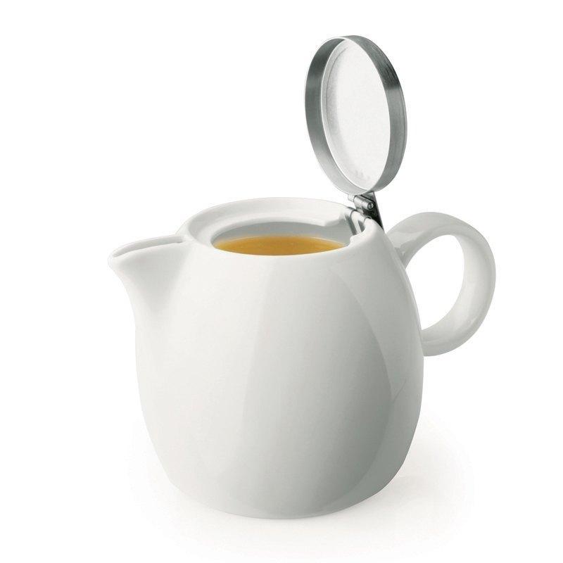 Tea Forte 普格陶瓷茶壺 - 白瓷 Orchid White  送 罐裝茶(隨機出貨) 1