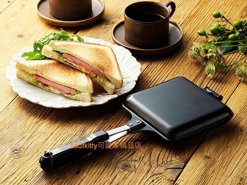 asdfkitty可愛家☆內海產業 雙面烤三明治鍋/熱壓吐司機-直火專用-日本正版商品