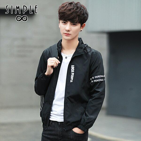 SIMPLE:★現貨★學院風薄款風衣外搭薄外套【S0137】SIMPLE
