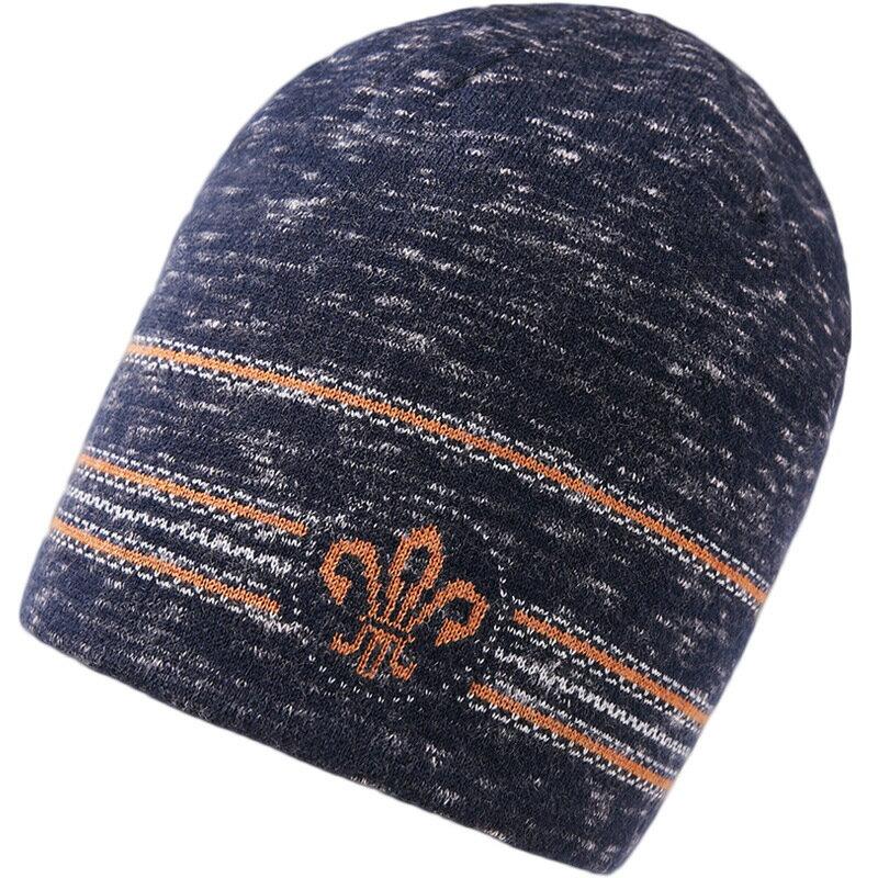 毛帽羊毛針織帽-護耳條紋提花捲邊男帽子2色73wj32【獨家進口】【米蘭精品】 0
