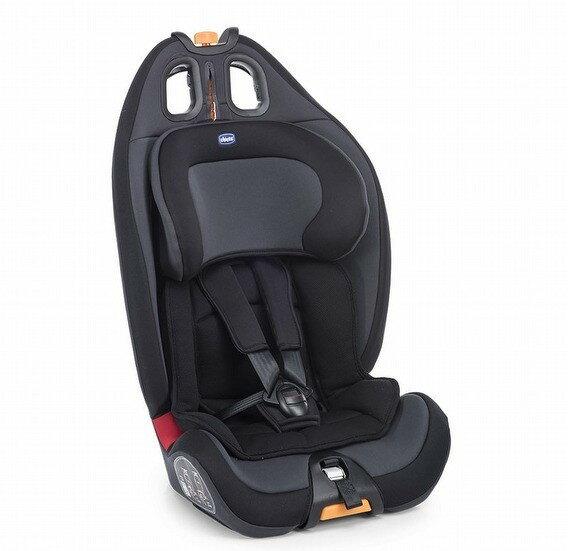 chiccoGro-up123成長型安全汽座絕對黑品味灰『121婦嬰用品館』