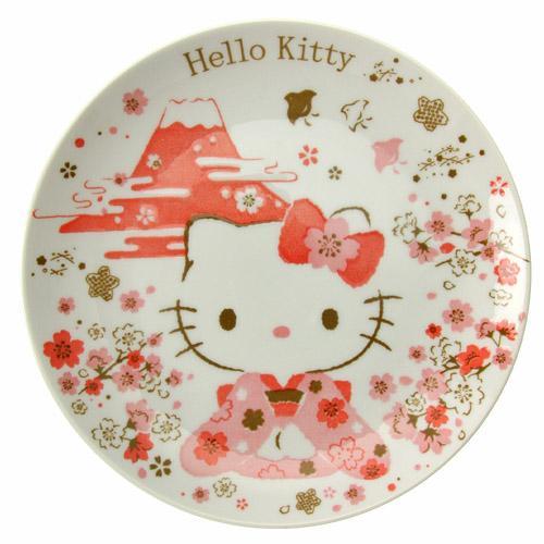 ◎LY愛雅日貨代購◎ 日本代購 HELLO KITTY 日本製富士山櫻花 盤子