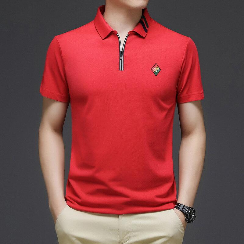 夏裝潮牌短袖polo衫男2021夏季新款韓版潮流刺繡翻領半袖T恤