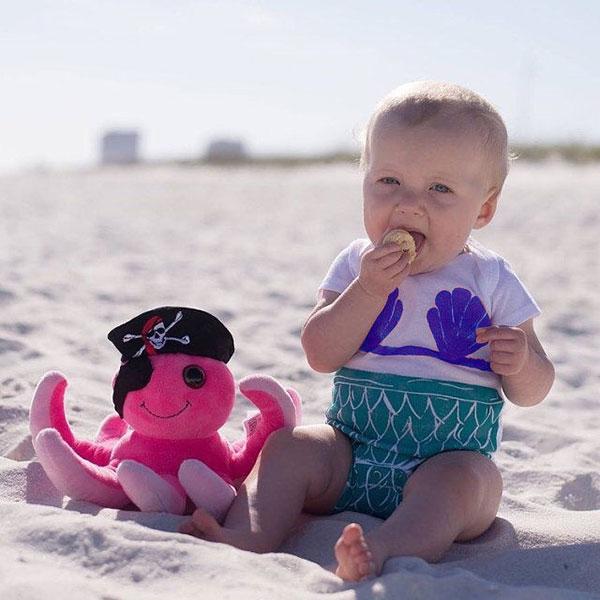 ins 美人魚 包屁衣 上衣 短袖 T 小美人魚 貝殼 魚鱗 童裝 寶寶 可愛 萬聖節 生日 週歲 一歲 小洋裝 公主 ANNA S.