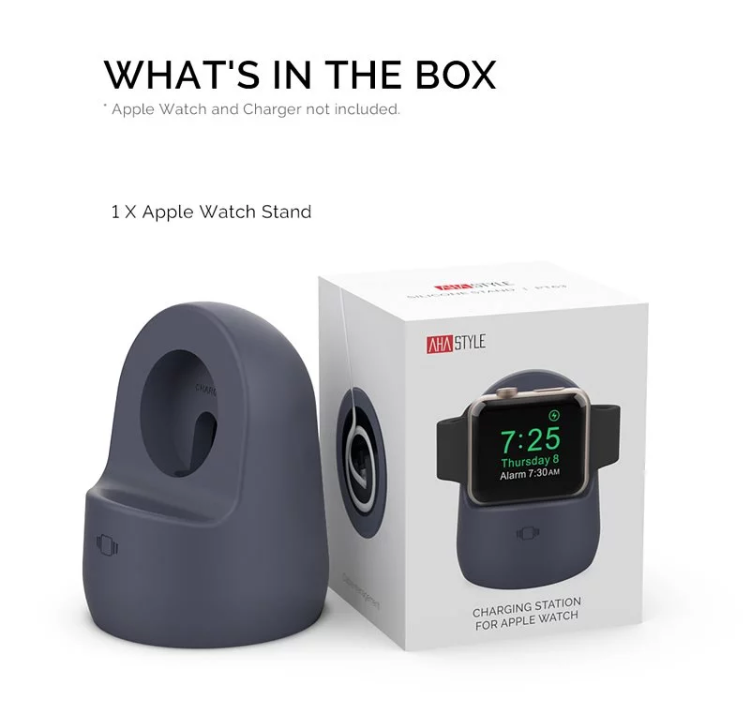 Aha Style Apple Watch 矽膠充電底座