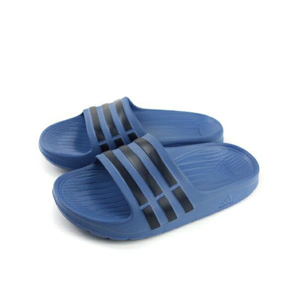 adidasDuramoSlideK運動拖鞋深藍童鞋CP9383no567