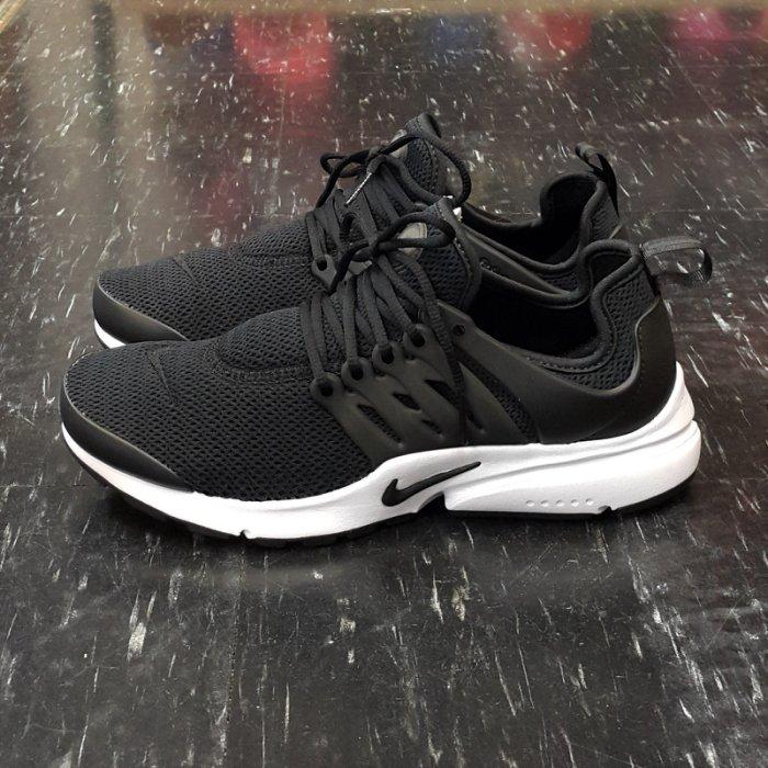 NIKE W AIR PRESTO 魚骨鞋 黑色 黑白 網布 復古 慢跑鞋 878068-001