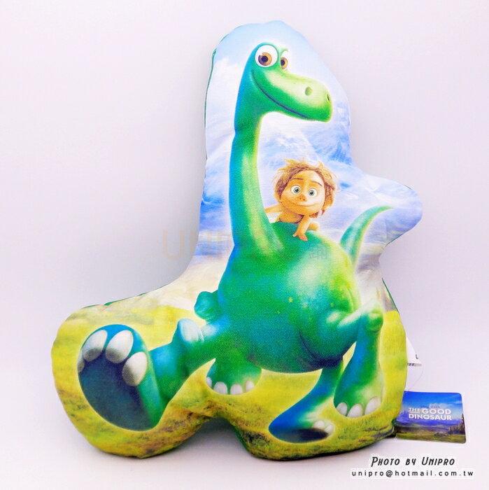 【UNIPRO】皮克斯電影 恐龍當家 阿羅 小巴 造型抱枕 靠枕 The Good Dinosaur