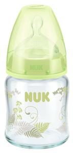 『121婦嬰用品館』NUK  寬口徑玻璃奶瓶 - 120ml (1號中圓洞) 0
