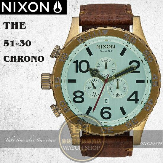 NIXON 實體店The 51-30 Chrono潛水腕錶A124-2223公司貨/極限運動/重金屬/工業風