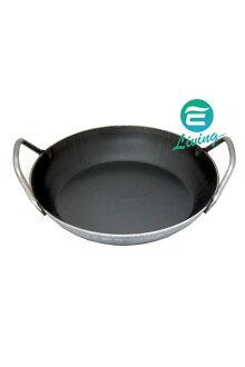 Turk 雙耳鍛鐵格紋深鍋 深款(熱鍛) 鐵鍋 (24cm/28cm)