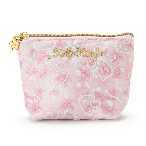 X射線【C378274】HelloKitty面紙化妝包-櫻花,美妝小物包筆袋面紙包化妝包零錢包收納包皮夾手機袋鑰匙包