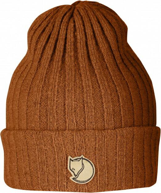 Fjallraven 瑞典北極狐 條紋羊毛帽/保暖帽/針織毛線帽/滑雪/旅遊/毛帽/復古/穿搭 Byron 77388 215秋葉橘