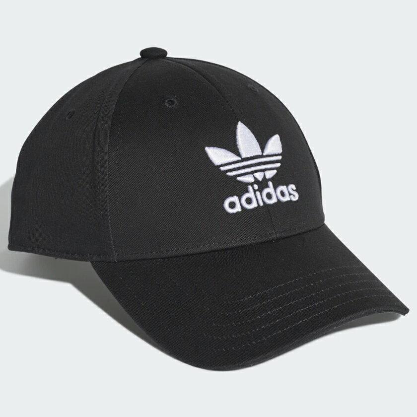 【全館滿額88折】【現貨】Adidas Trefoil Baseball Cap 帽子 老帽 黑【運動世界】EC3603