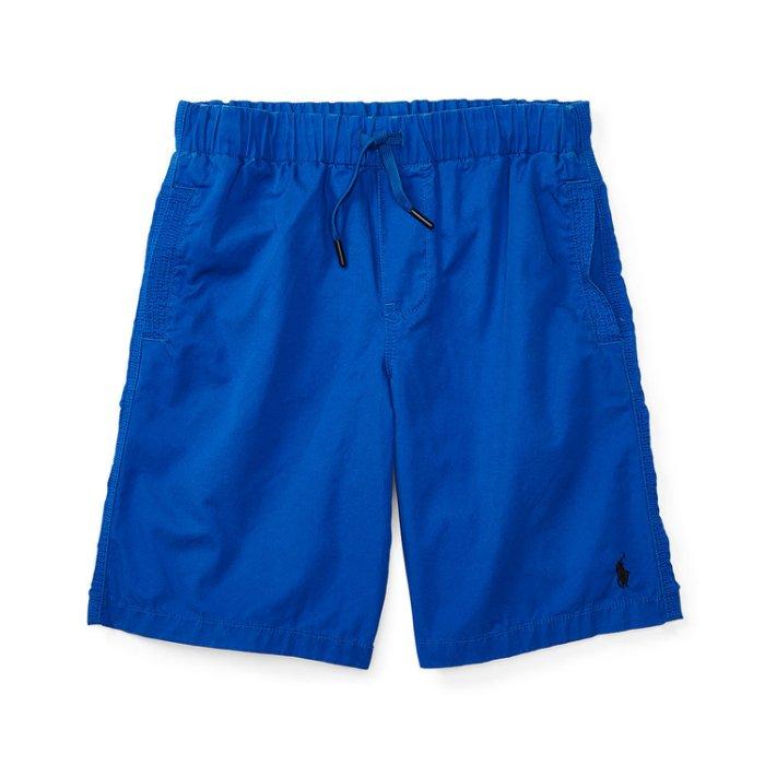 美國百分百【全新真品】Ralph Lauren 抽繩短褲 休閒褲 褲子 Polo RL 小馬 寶藍 XS S號青年版 I159