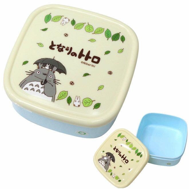 【真愛日本】13011900037 四方保鮮盒-落葉黃 宮崎駿 龍貓 餐盒 收納盒 便當盒 日本帶回