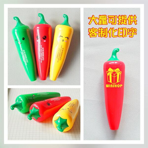 小辣椒修正帶 按壓式可替換可愛造型塗改立可帶 學生兒童獎品 辦公室文具 最佳文具贈品禮品