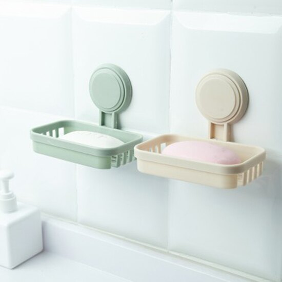 ?MY COLOR? 掛式瀝水肥皂架 香皂盒 創意 置物架 無痕 壁掛 衛生間 洗漱 浴室【N385】