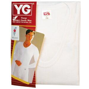 YG 羅紋長袖U領衫YP510 M 白