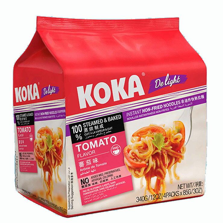 【KOKA】非油炸番茄味拉麵4入裝(340g)