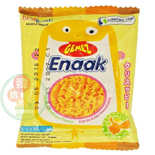 【韓購網】韓國Enaak香脆雞汁點心麵16g★小雞脆麵雞汁點心麵★韓國餅乾點心