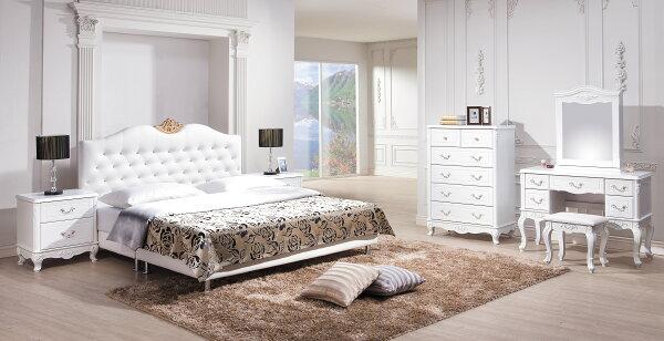 【尚品家具】HY-A25-01溫妮莎5尺白色皮床頭片~另有6尺