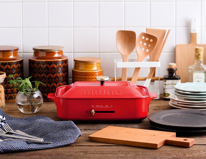 NEW色★日本名廚Masa推薦★日本BRUNO-附3組BOE021多功能鑄鐵電烤盤(2-3人份量)-,附1個深鍋+2個烤盤 (平盤+章魚燒盤)-日本必買 免運 / 代購-(12744*5.6) 4