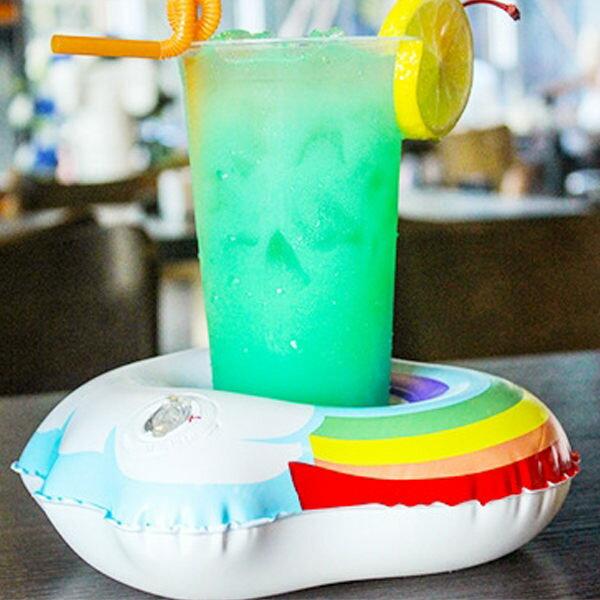 PS Mall 雲朵杯座彩虹杯座 充氣後尺寸約23*19cm杯口約8CM【J2150】 0