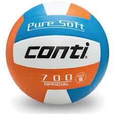 [陽光樂活=] 特價 CONTI 超軟橡膠排球(4號球) 藍/白/橘 V700-4-WBO