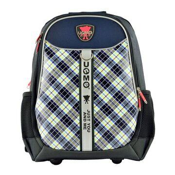 X射線【Cb3247】UnMe蘇格蘭格紋電腦包(格紋.藍)3247台灣製造,開學必備/護脊書包/書包/後背包/背包/便當盒袋/書包雨衣/補習袋/輕量書包/拉桿書包