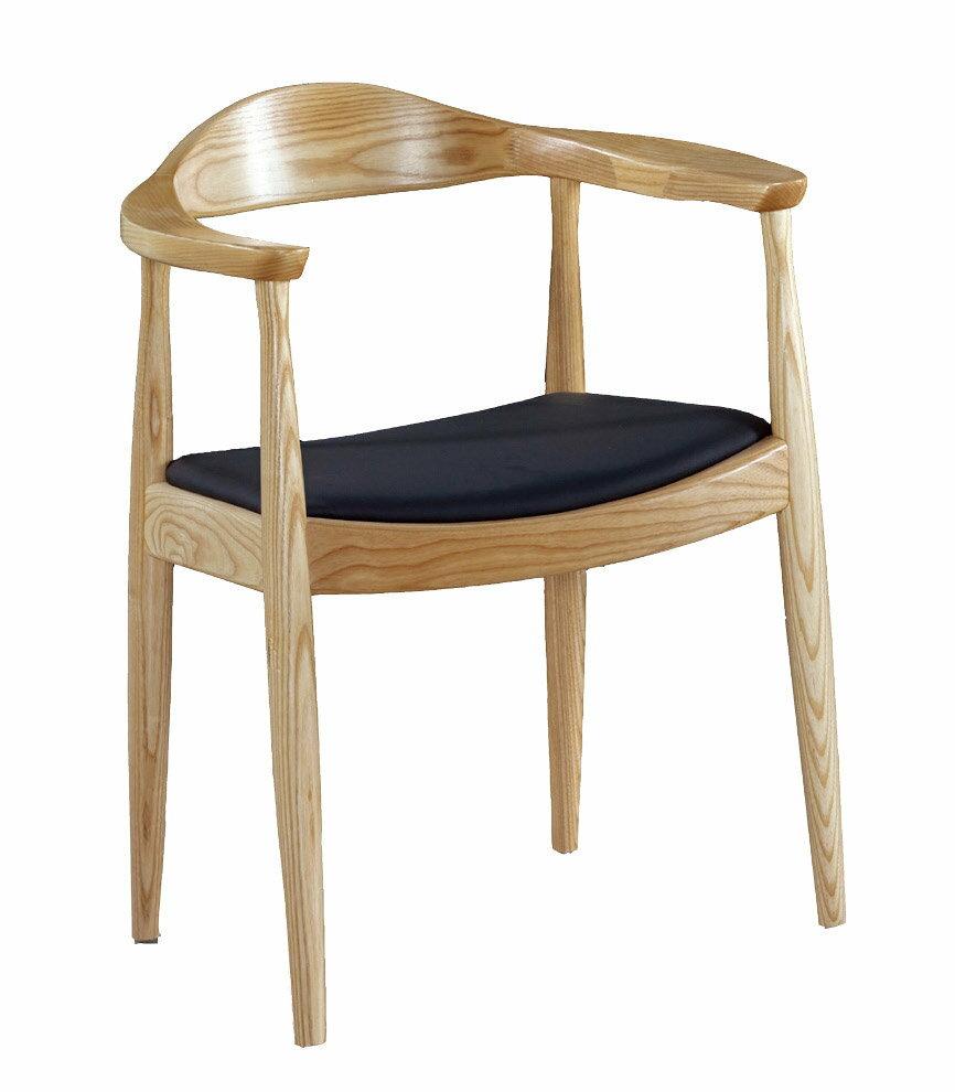 【石川家居】KF-983-1 經典原木總統椅 (不含其他商品) 需搭配車趟
