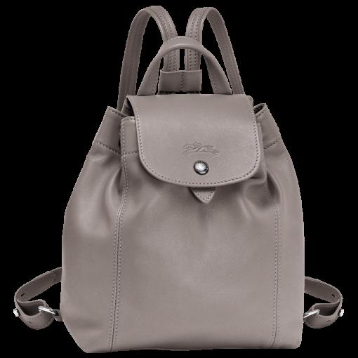LONGCHAMP Le Pliage Cuir 女士系列粉红色羊皮超小號雙肩包 L1306737018 4