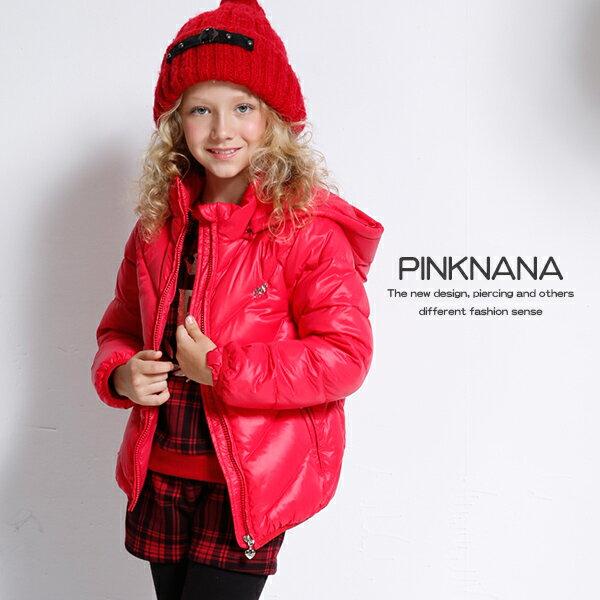 PINKNANA童裝 女童輕羽絨保暖連帽外套32186 親子裝 (限量款)