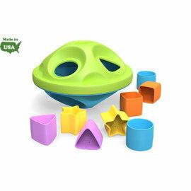 【淘氣寶寶】美國【greentoys感統玩具】Shape sorter幽浮異形星【檢驗符合最高安全標準/沒有外部塗料,保證無毒】