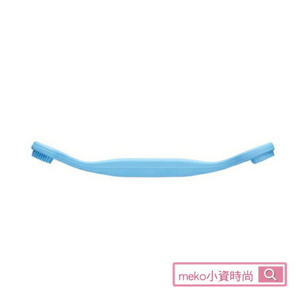 【日本綠鐘】匠之技專利設計矽膠刮舌苔清潔棒(水藍)