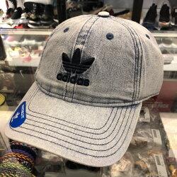 現貨 BEETLE ADIDAS 牛仔布 水洗 立體 經典LOGO 老帽 棒球帽 可調式 男女款