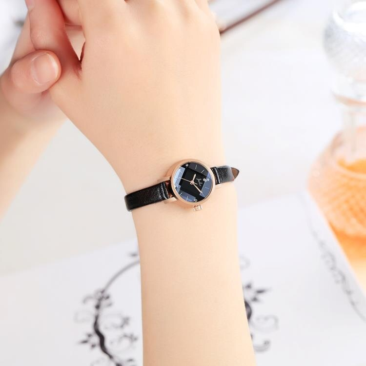 2020新款韓版時尚女手錶INS風細帶小錶盤簡約氣質防水皮帶中學生