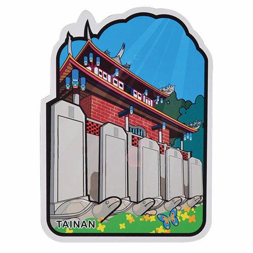 台灣旅行明信片/異型/赤崁樓/台南/台灣景點/TAIWAN/PostCard/MILU(台灣景點/古蹟/鄭成功/TAIWAN)
