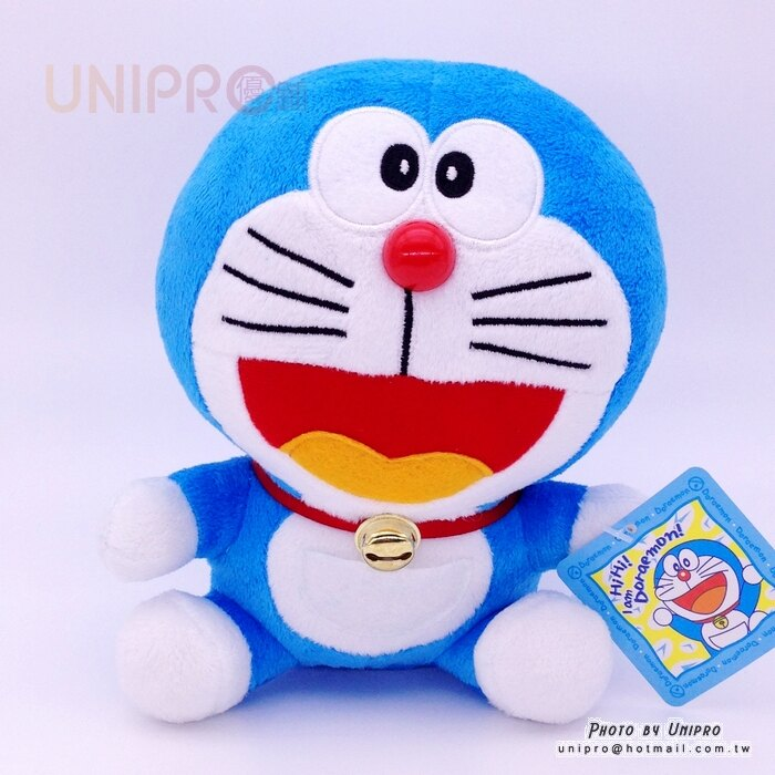 【UNIPRO】哆啦A夢 Doraemon 小叮噹 19公分 坐姿 絨毛玩偶 娃娃 禮物