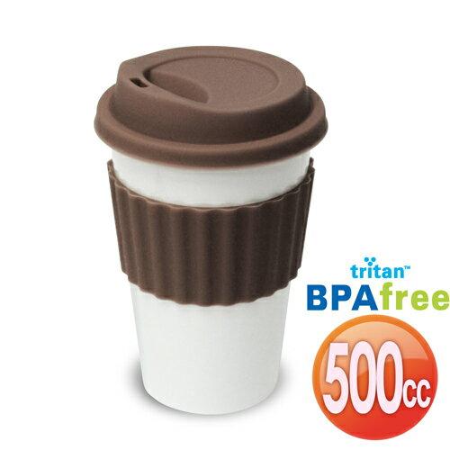WallyFun 亮彩環保咖啡杯/隨手杯-500cc (綠/粉/棕/藍 可選)