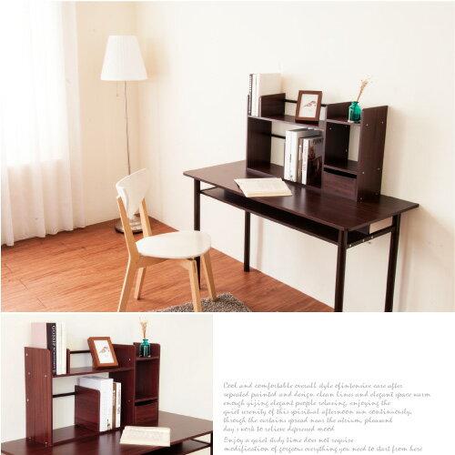 《Hopma》桌上型伸縮書架-胡桃色