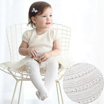 針織簍空薄褲襪 有防滑底 S(6M~2Y). M(3Y~4Y) 橘魔法Baby magic 兒童褲襪 童裝【p0061168785415】 0