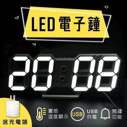 【當日出貨】韓國熱銷 3D數字時鐘 科技電子鐘 LED數字鐘 立體電子時鐘 時鐘 電子鬧鐘 掛鐘 小夜燈 生日 聖誕節【A03】