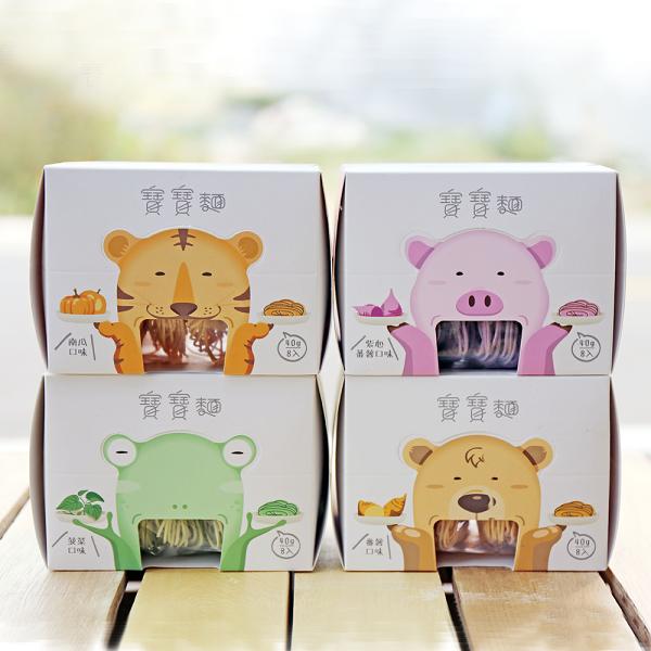 森林寶寶麵(8入)X4盒-竹山番薯紫心蕃薯菠菜南瓜口味