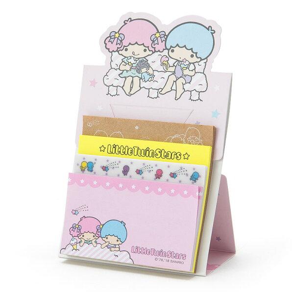 【真愛日本】18051800015日本製自黏便箋-TS加ACO雙子星kikilala便利貼便條紙文具