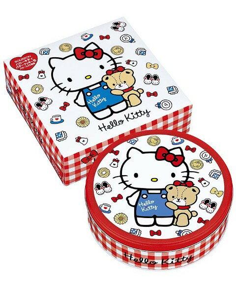 【橘町五丁目】新版! 北日本BOURBON Hello Kitty 餅乾禮盒(新版方格圓罐)-附贈提袋!