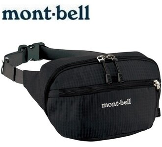 Mont-Bell 休閒腰包/旅行腰包 Delta gusset pouch M 1123764 BK黑色
