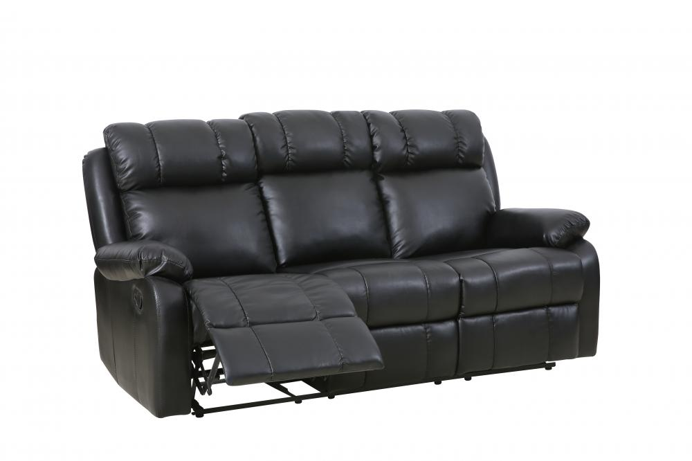 Factory Direct Recliner Sofa Manual Reclining Leather Living Room