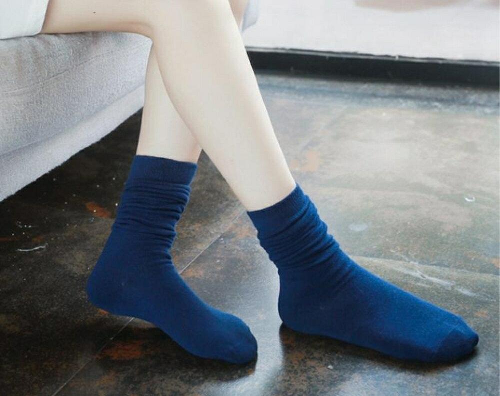 長筒襪  長襪子女士中筒堆堆純棉祙高筒厚學院風長筒天   瑪麗蘇